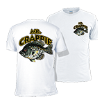 Mr. Crappie Throw Back White T-Shirt