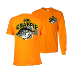 Mr. Crappie Throw Back Orange T-Shirt