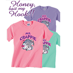 Ms. Crappie Honey Bait My Hook Short Sleeve Tee
