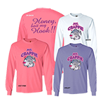 Ms. Crappie Honey Bait My Hook Long Sleeve Tee