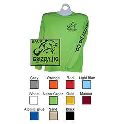 Grizzly Jig Dry Fit LS Tees